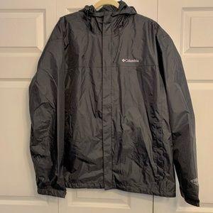 COLUMBIA Omni-Tech Front-Zip Hooded Rain Jacket